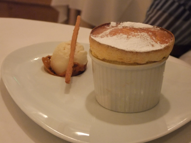 pineapple souffle at morgan m