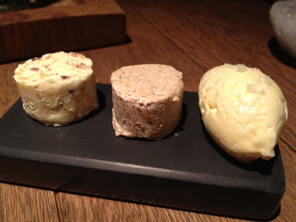 selection of butter at tom aikens