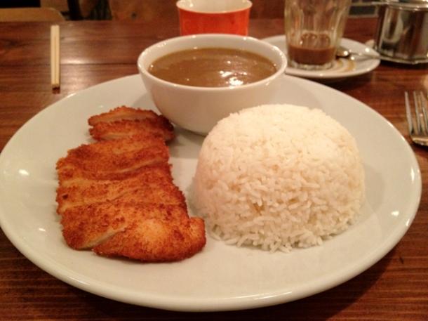 chicken katsu curry at kin holborn