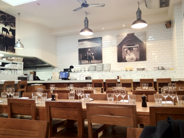 interior of tom's kitchen kensington and chelsea