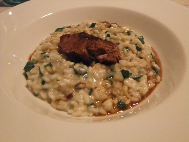 lamb risotto at mele e pere