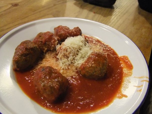 meatballs at soho joe