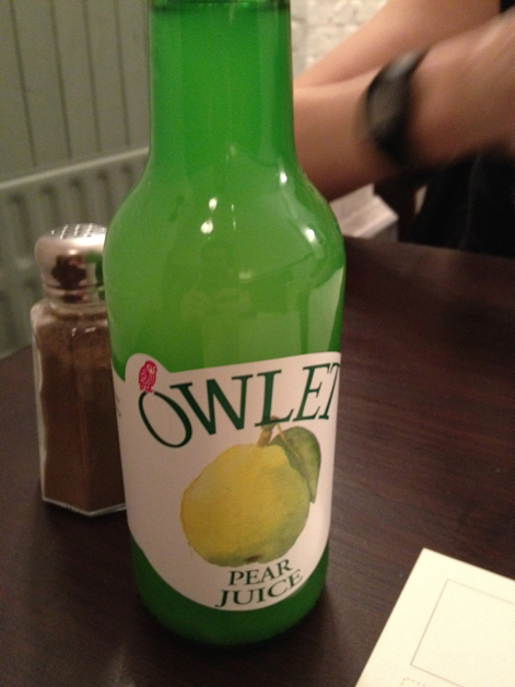 owlet pear juice at orchard holborn