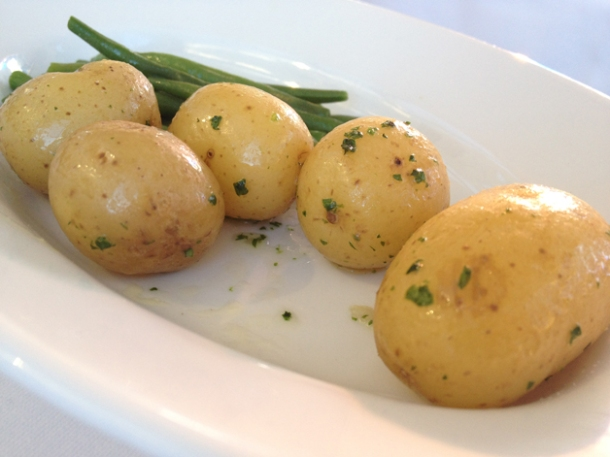 potatoes and green beans at bibendum