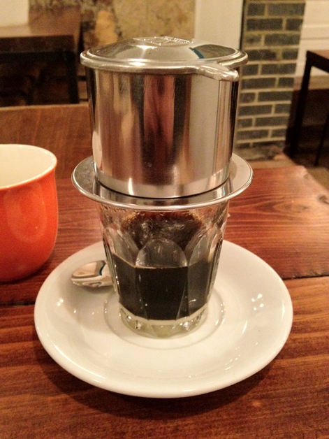 vietnamese coffee at kin holborn