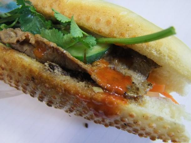 beef vietnamese sandwich at banh mi 11