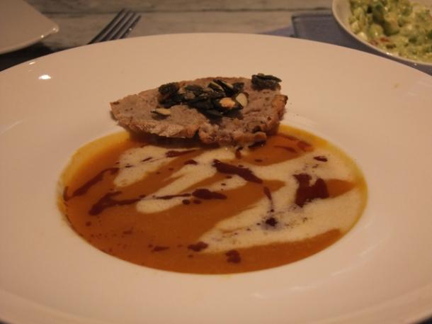 beef consommé at mediterraneo vienna
