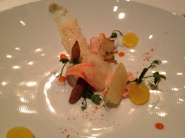 lobster with black salsify and citrus at anna sacher