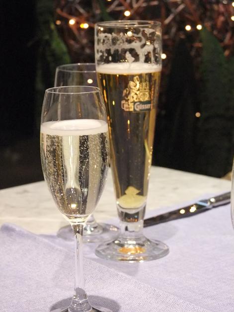 chardonnay and beer at mediterraneo vienna