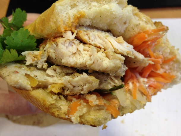 chicken vietnamese sandwich at banh mi 11