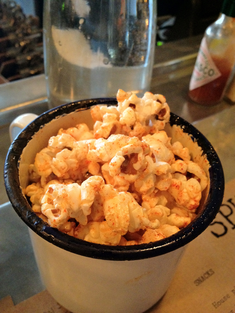 chilli popcorn at spuntino