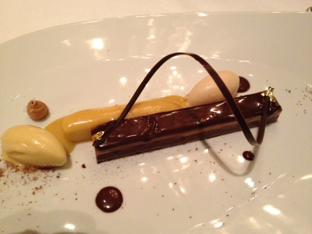 peanut, dark chocolate and exotic fruits at anna sacher
