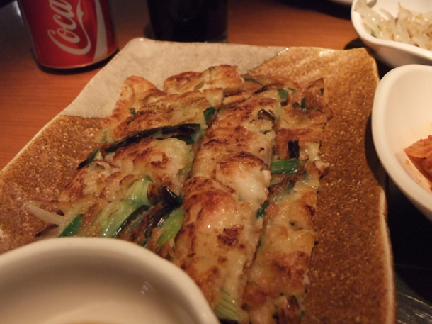 seafood korean pancake at asadal