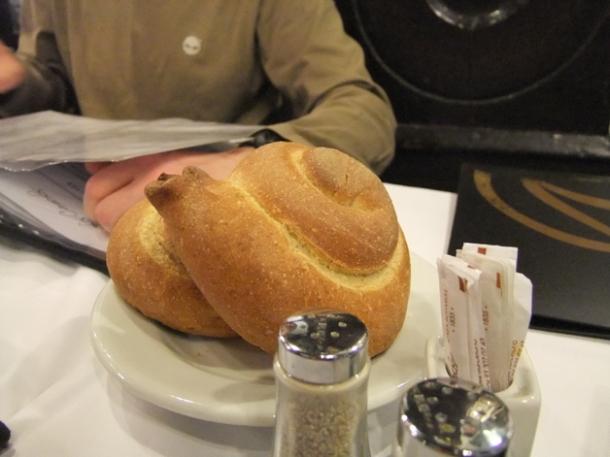 snail shaped bread at los caracoles
