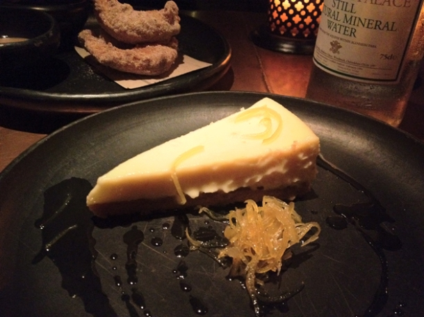 baked lemon cheesecake with caramelised lemons at la bodega negra