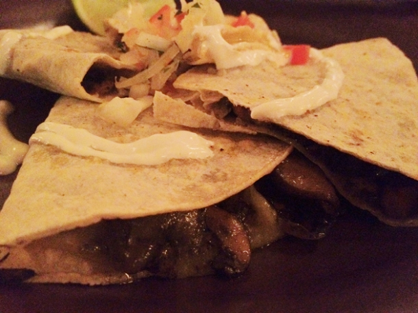 huitlacoche quesadillas at la bodega negra