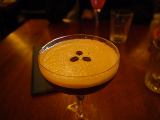 coffee, coffee liqueur and vodka cocktail at hawksmoor seven dials covent garden