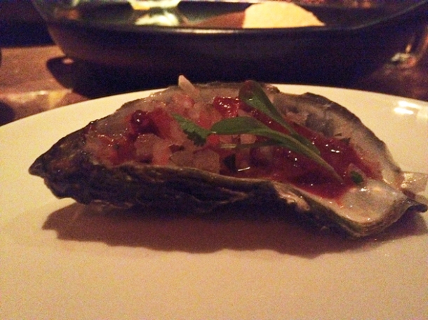 an oyster at la bodega negra