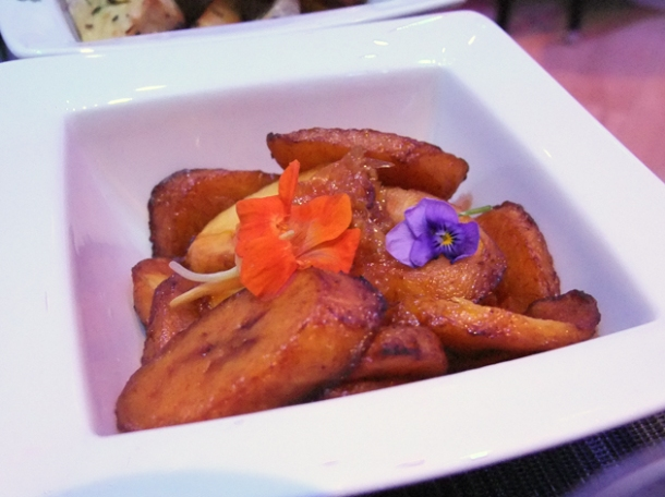 plantains with orange and ginger dressing at bubba's