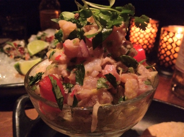 red snapper ceviche at la bodega negra