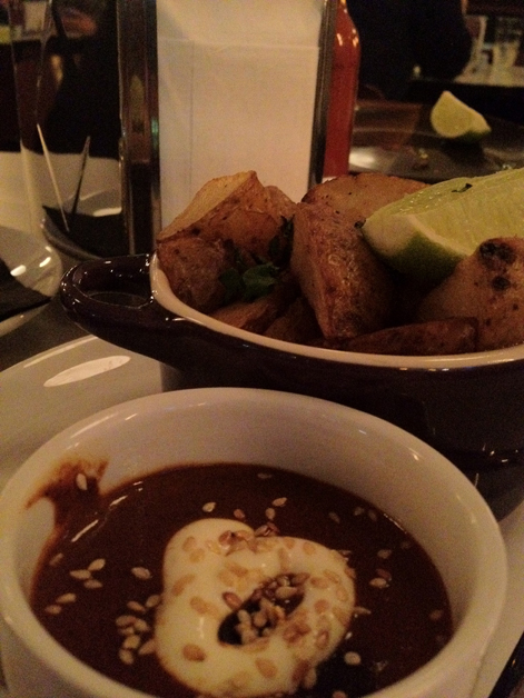 roast potatoes with mole negro at la bodega negra