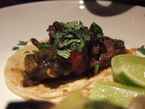 steak taco at la bodega negra restaurant