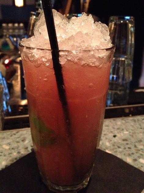 non-alcoholic watermelon cocktail at la bodega negra