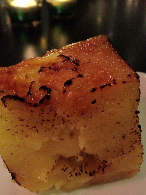 bread and butter pudding at carom