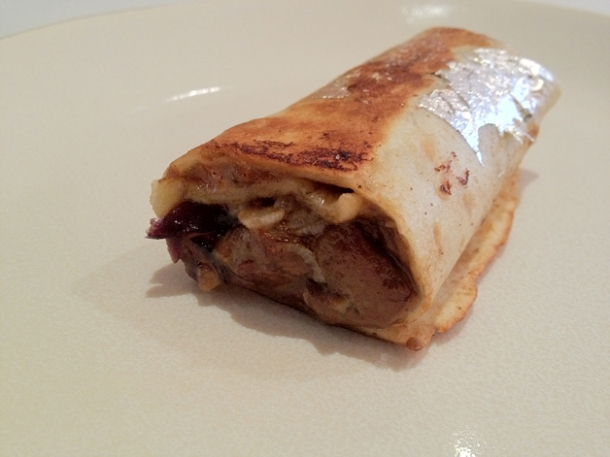foie gras duck burrito at gelonch