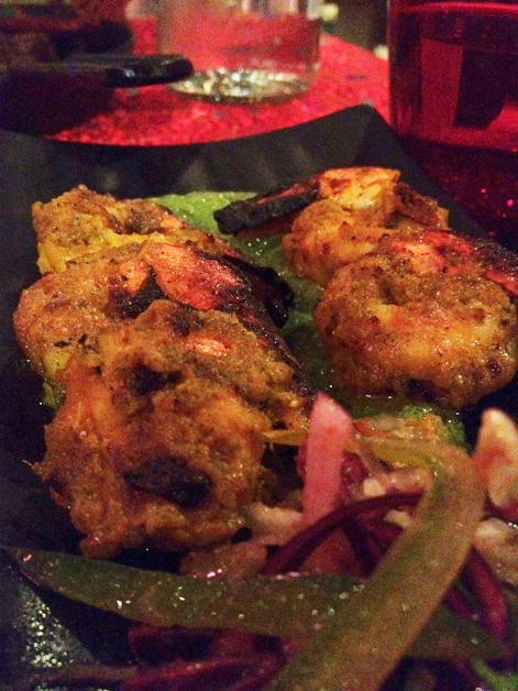 fried tiger prawns at carom