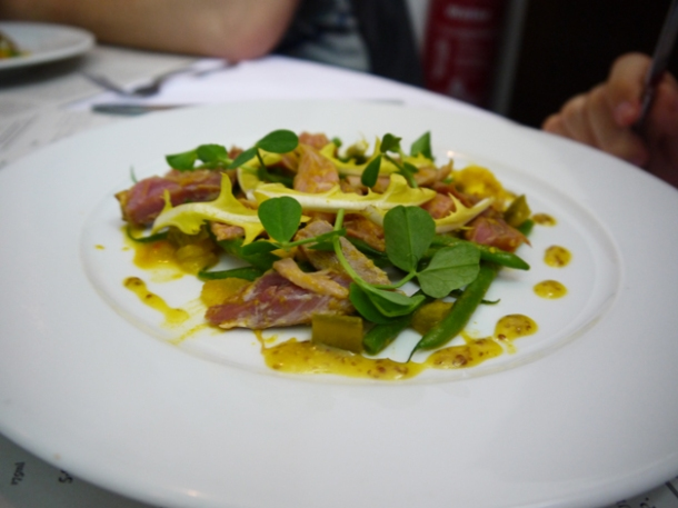 ham hock salad at rivington grill