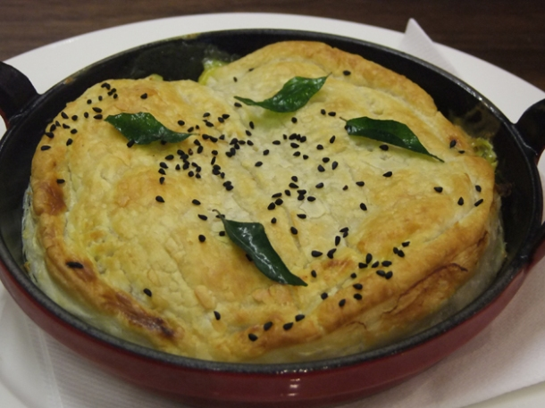 keralan seafood pie at cinnamon soho