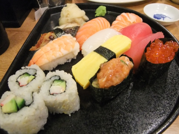 large sushi set at ittenbari