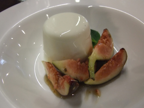 lassi pannacotta with tamarind glazed figs at cinnamon soho
