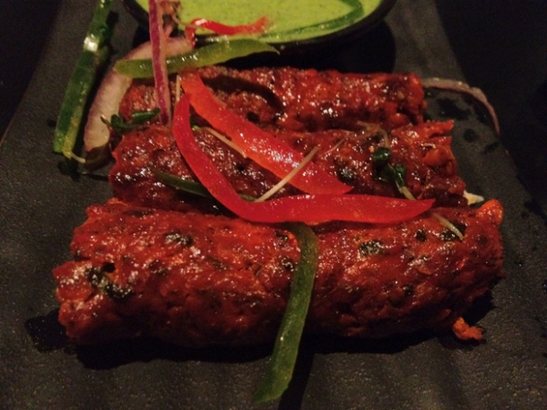 lucknow lamb kebab at carom