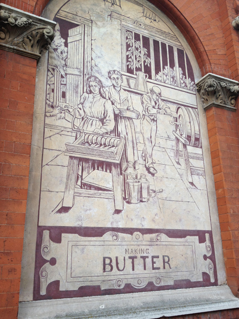 old dairy external mural