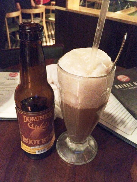root beer float at all star lanes bayswater