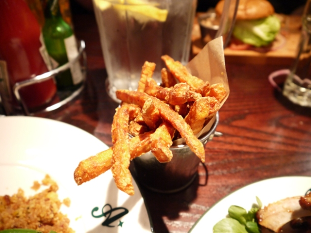 sweet potato fries at all star lanes bayswater