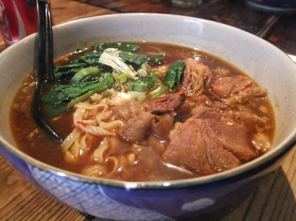 taiwanese beef noodle soup at leong's legends continue