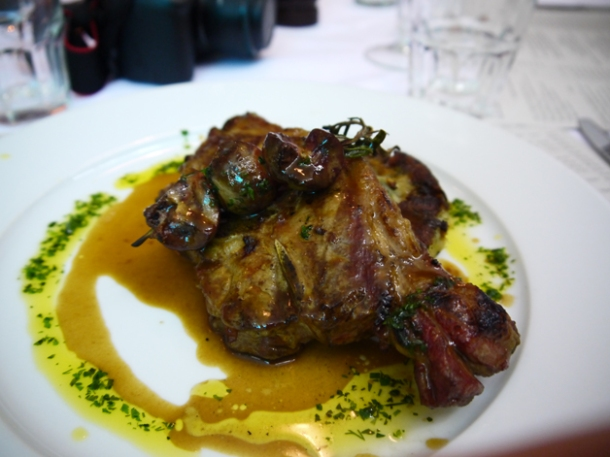 the lamb chop at the rivington grill shoreditch