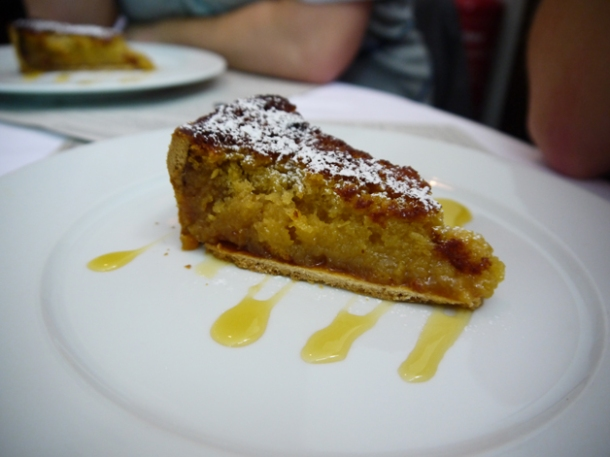 treacle tart with devonshire cream at the rivington grill shoreditch