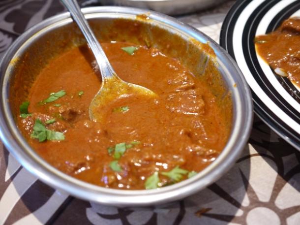 lamb curry at mandalay