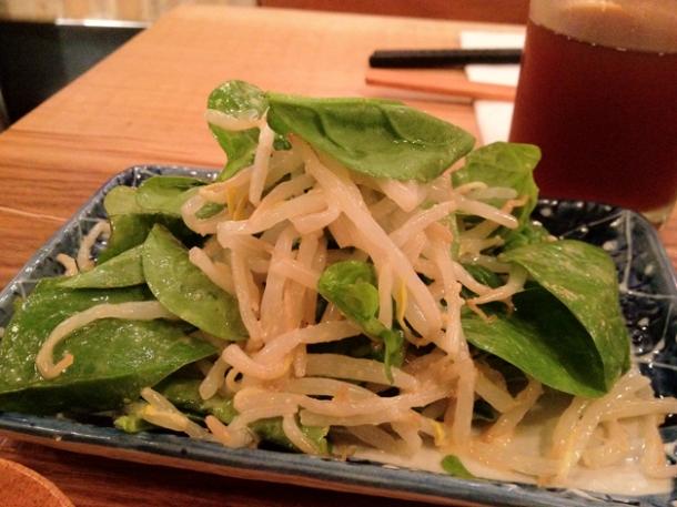 sesame and spinach salad at tonkotsu soho