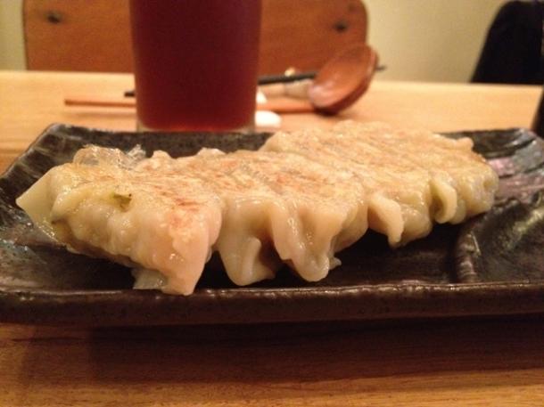 shiitake gyoza at tonkotsu soho