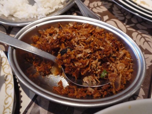 shrimp garnish at mandalay