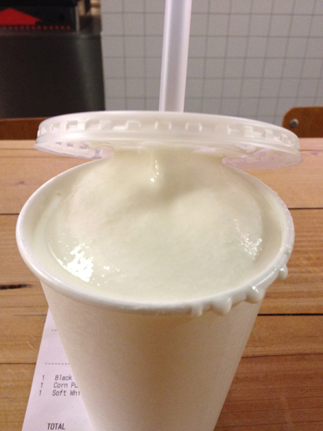 vanilla milkshake at meat market