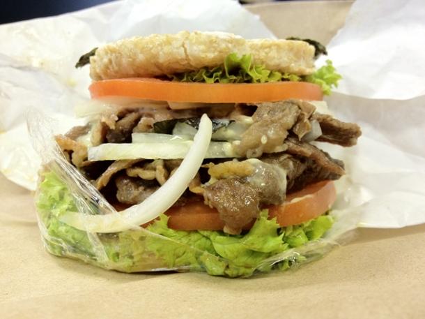 japanese burger from umai