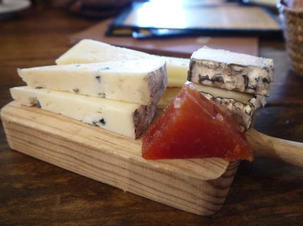 cheese selection at copita