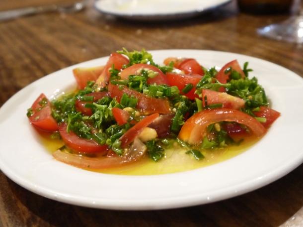 cherry tomato salad at copita