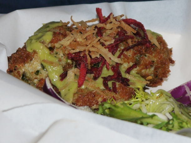 crab cake at death by burrito at catch
